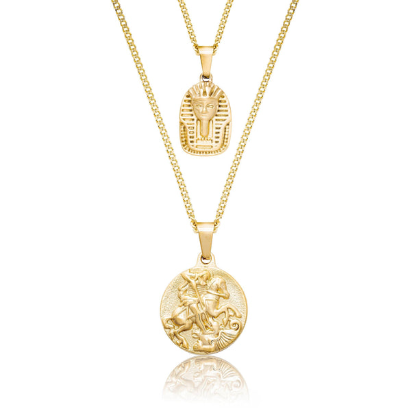 St George x King Tut Gold Necklace Bundle necklace Midnight City Jewellery