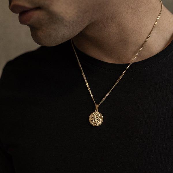 St George Pendant Necklace - Gold necklace Midnight City Jewellery