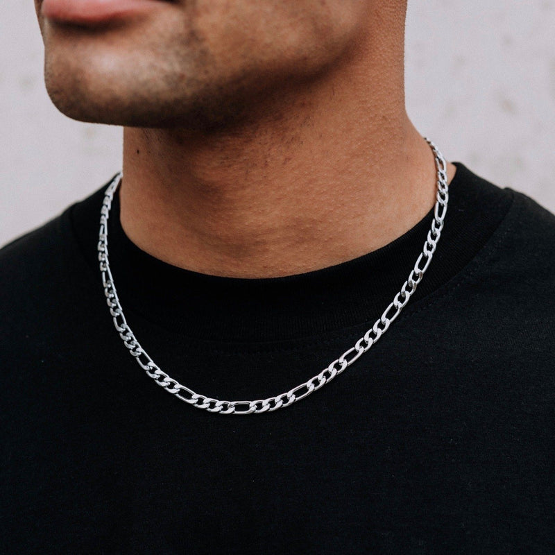 Figaro Chain - Silver 6mm chain Midnight City Jewellery