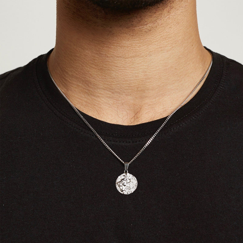Lion Pendant Necklace - Silver necklace Midnight City Jewellery