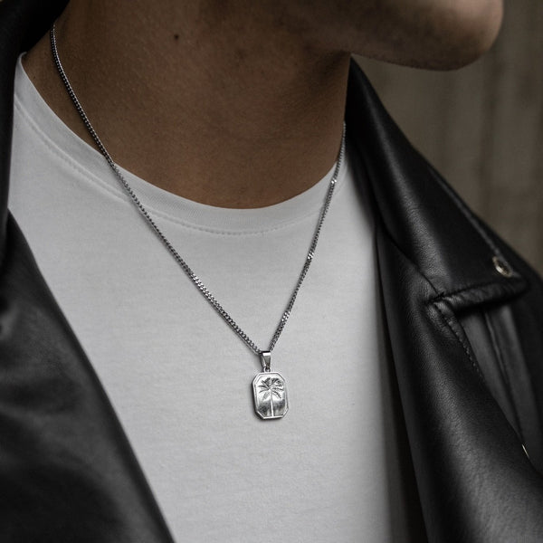 Palms Pendant Necklace - Silver necklace Midnight City Jewellery