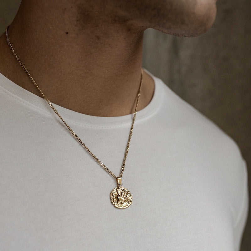 Pegasus Pendant Necklace - Gold necklace Midnight City Jewellery