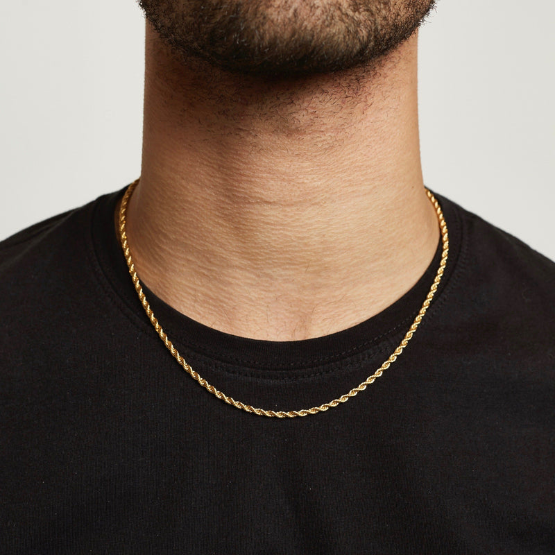 Rope Chain - Gold chain Midnight City Jewellery 45cm/18inch 3mm