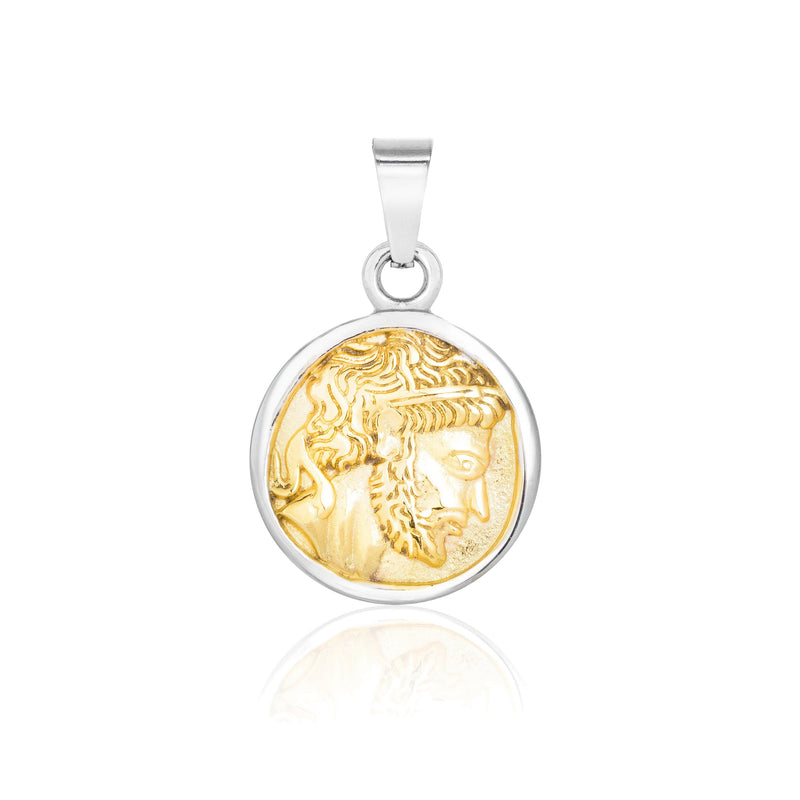 Pendant - Silver pendant Midnight City Jewellery Zeus Two Tone
