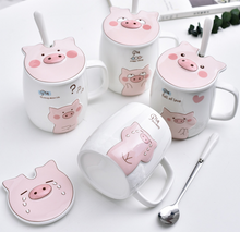 Load image into Gallery viewer, Cartoon Cute Pig Water Cups