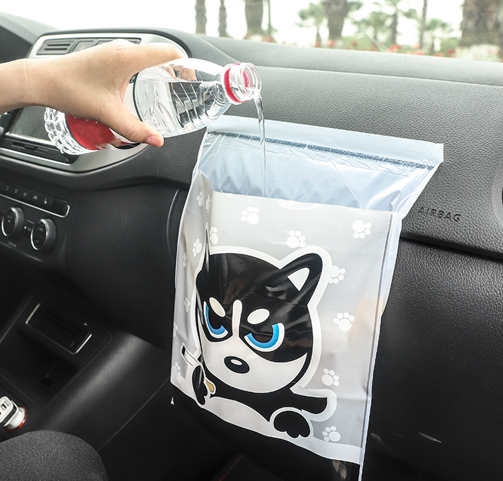 Car Trash Bag, Paste type, Waterproof (15PCS)