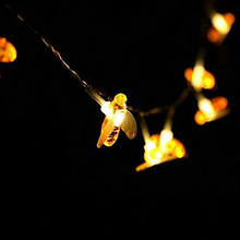 Load image into Gallery viewer, Bee decorative light string