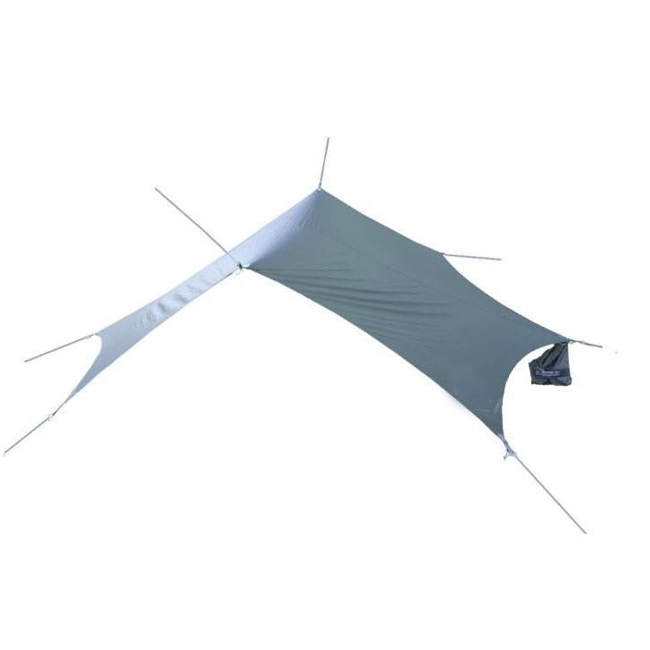 Waterproof tarp with stakes