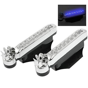 Wind Powered Car Decorative 8-LED Light(1 pair)