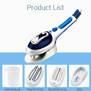 2-in-1 portable steam iron brush