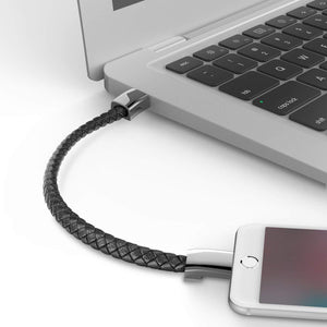 Leather USB Charging Cable Bracelet