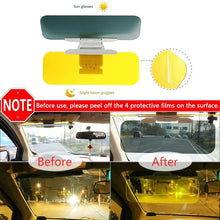 "Load image into Gallery viewer, Car Sun Visor Anti Glare UV Visor 2 in 1 Universal HD Day and Night Driving Visor Extender Windshield Fit 4.7""-7"" Frosted Protective Film Covered"