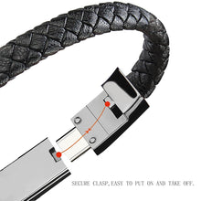 Load image into Gallery viewer, Leather USB Charging Cable Bracelet
