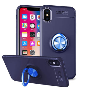 Invisible ring bracket TPU iphone case, magnetic car soft TPU case, Shockproof Anti-Scratch Ultra-Slim Protective Cover