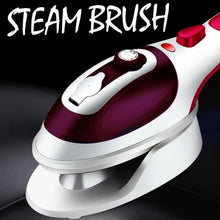 Load image into Gallery viewer, 2-in-1 portable steam iron brush