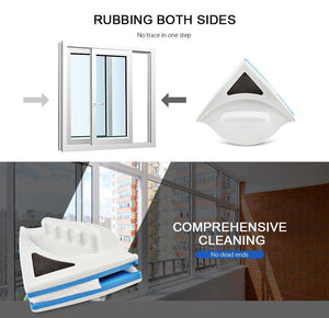 Double-sided window cleaning cleaner
