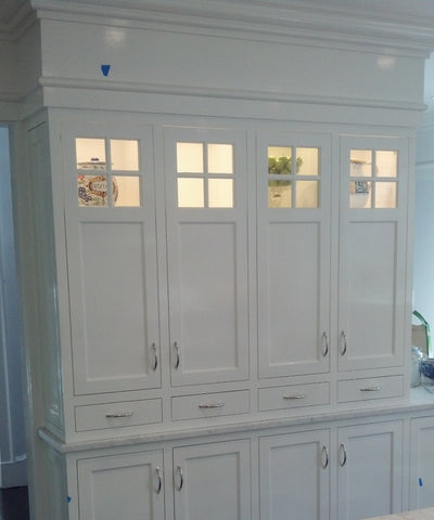White Lighted Cabinet