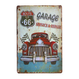 Vintage Route 66 Garage Sign