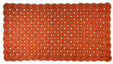 Large orange upcycled lobster rope porch rug made in Maine