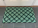 Green rope outdoor welcom mat