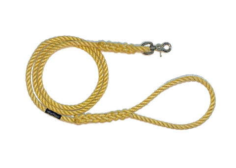 Yellow rope dog leash