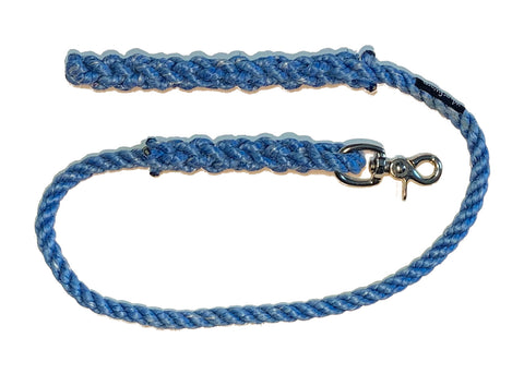 Blue lobster rope horse lead