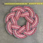 17 inch pink nautical rope wreath