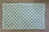 Sea Gull Rug - Medium, Recycled lobster rope, Maine made, Nautical outdoor doormat, Durable indoor/outdoor rug by WharfWarp