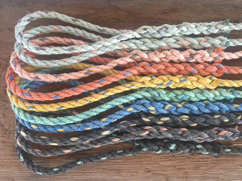 Colorful hand spliced rope dog leashes