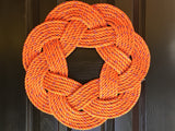 Halloween Wreath, Upcycled lobster rope, Maine made, Pumpkin Weath, Fall Wreath, Orange Wreath