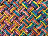 ROYGBIV recycle doormat handwoven in Maine
