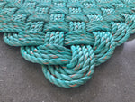 Turquoise rope rug