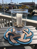 Nautical centerpiece made with reclaimed Maine lobster rope