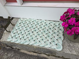 Sea Gull Rope Mat, Upcycled lobster rope mat, Maine made, Reclaimed welcome mat, Kitchen mat, Rope entry mat by WharfWarp
