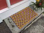Violets Rope Mat, Nautical doormat, Recycled lobster rope, Maine made, Vikings, Lakers, Upcycled mat by Wharf Wrap