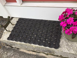 Black Rope Mat, Eco-friendly decor, Contemporary style, Nautical doormat, welcome mat, Maine made from upcycled lobster rope by WharfWarp