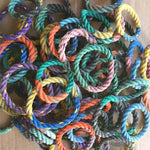10 Upcycled Lobster Rope Bracelets, Eco-friendly nautical stacking bangle bracelets, Multicolored bracelets, Maine made by WharfWarp