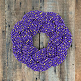 Lupine Wreath, Nautical Spring decoration, Easter wreath, Upcycled  Fall door decor, Woven by WharfWarp in Freeport, Maine