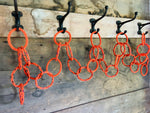 9' Outdoor Fall Garland, Halloween decor, reclaimed lobster rope, Orange rope garland, Nautical hanging card holder by Wharf Warp