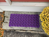 Lupine Mat - Step Sized, Recycled lobster rope, Maine made, Nautical outdoor mat, Purple welcome mat by Wharf Warp