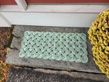 Sea Gull Mat - Step Sized, Lobster rope welcome mat, Nautical recycled rope doormat, Maine made, Entry mat upcycled mat by WharfWarp