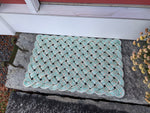 Sea Shell Rope Mat, Recycled lobster rope, Maine made, Nautical welcome mat, Light and durable beach house door mat by Wharf Warp