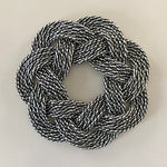 Mini Wreaths, Upcycled lobster rope, Small wreath, Nautical centerpiece, table decoration woven in Maine by Wharf Warp