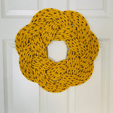 Sunshine Wreath, Nautical Spring decoration, Easter wreath, Upcycled  Fall door decor, Woven by WharfWarp in Freeport, Maine
