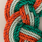 Celtic Knot Wreath - Chunky, St Patricks Day wreath, Upcycled lobster rope wreath, Flag of Ireland, Irish nautical wreath by WharfWarp