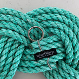 "Sea Foam Green Wreath, 12"" diameter wreath, Upcycled lobster rope, Green nautical rope wreath, Cottage decor made in Maine by WharfWarp"