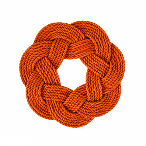 Orange Rope Wreath