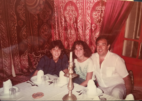 My dad, my sister and me at Tangier, Morocco 1985