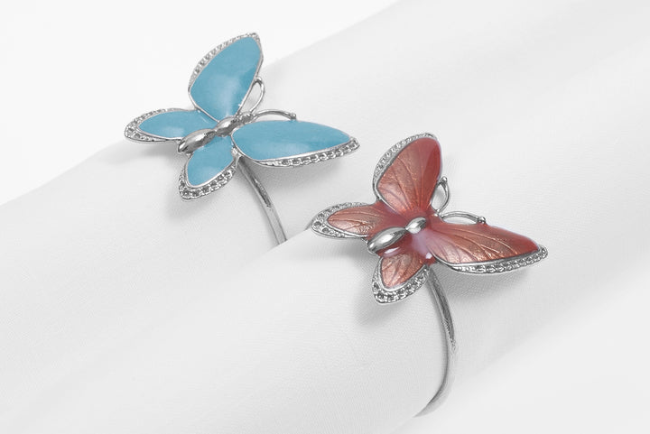 Butterfly Nikel Set  2 Nikel Napkin Holder
