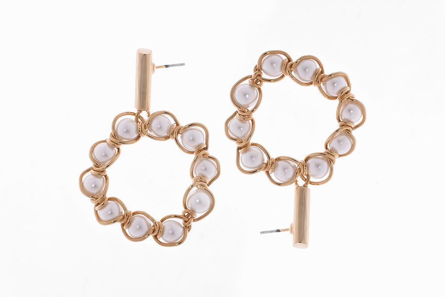 Circular Pearls Earrings
